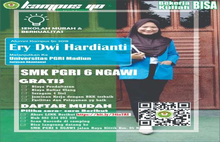 Alumni SMK PGRI 6 Ngawi Siap Bekerja dan Bisa Kuliah